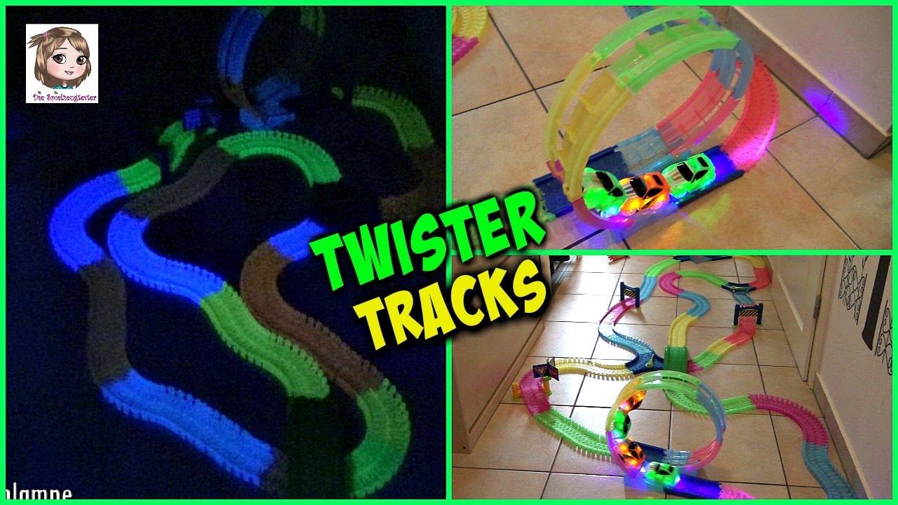 Twister Tracks Neon Rennbahn Mit Looping Und Leuchtenden Autos