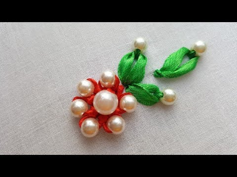 All Over Design||Hand Embroidery||Beautiful Ribon Flower Making,,,
