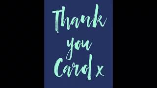 Thank you Carol x