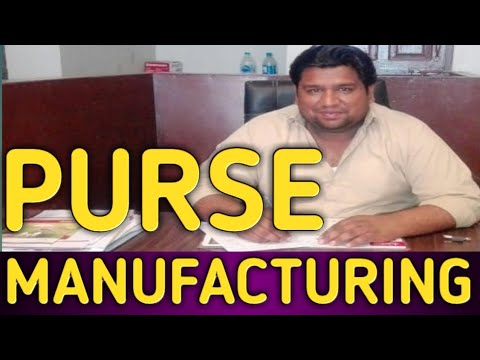 Leather Purse Manufacturing Business