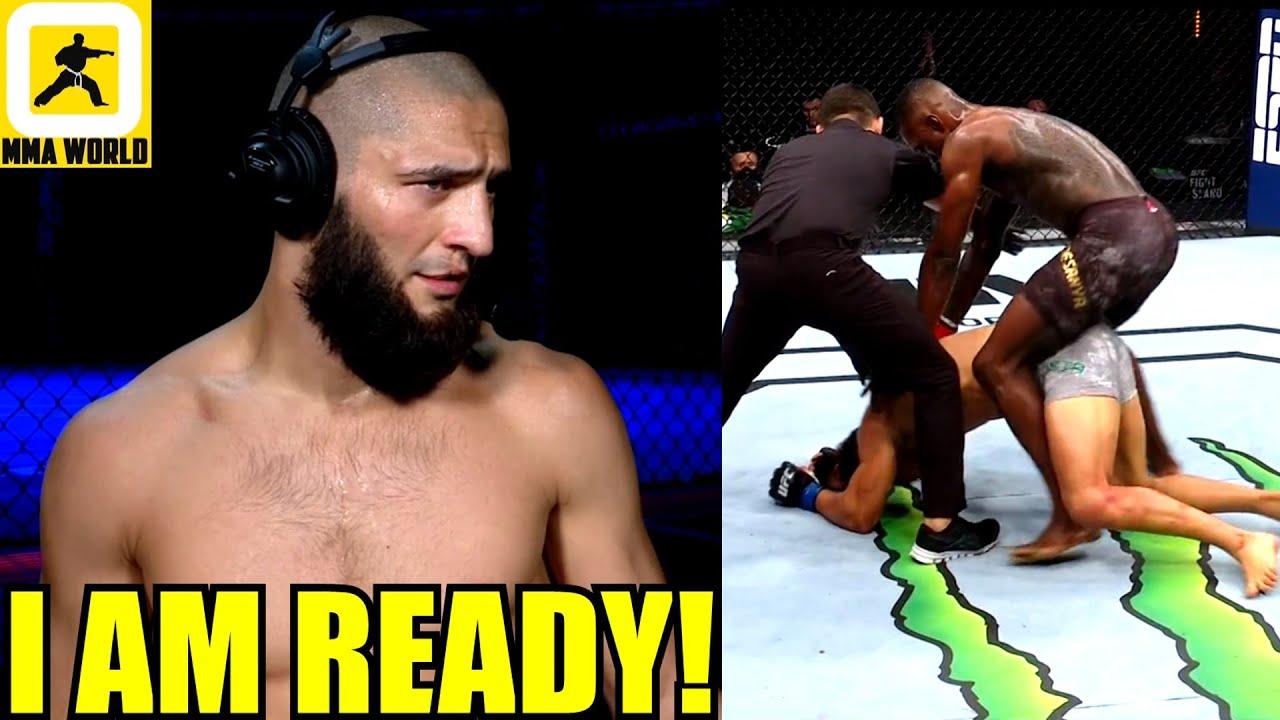 This is how Khamzat Chimaev reacted to Israel Adesanya destroying Paulo Costa at UFC 253,Dana White