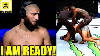 This is how Khamzat Chimaev reacted to Israel Adesanya destroying Paulo Costa at UFC 253,Dana White