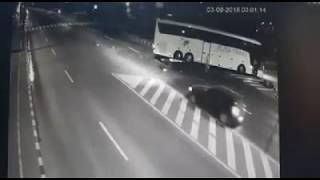Accident motocicleta   autocar, suceava, 3 septembrie 2018. Sursa: Observator.tv