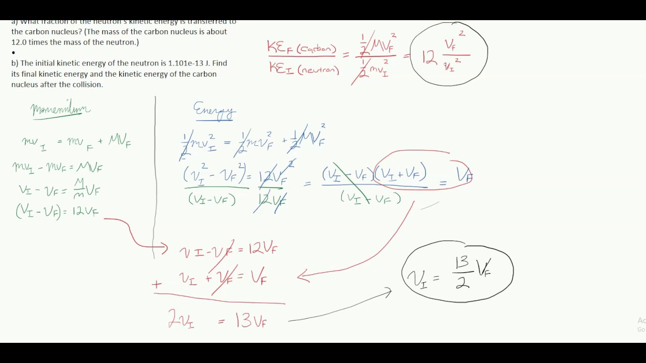 Physics Elastic Collisions Tricks For Missing Variables Youtube
