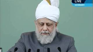 English Friday Sermon 1st July 2011 - Islam Ahmadiyya