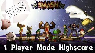 SSB64 (TAS): Kirby 1-Player Mode Very Hard (Highscore)