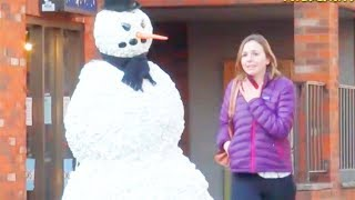 Ultimate Scare Cam Scary Snowman Hidden Camera Practical Joke Compilation 2012
