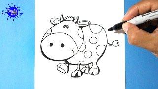 Como dibujar una Vaca l How to draw a cow l Como dibujar animales