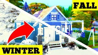 🌈⛄️ WINTER TO FALL BUILD! The Sims 4 Seasons! ⛅️