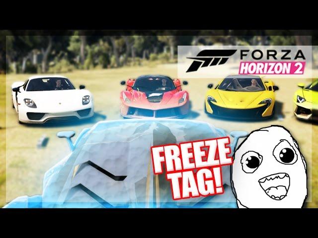 Forza Horizon 2 - Freeze Tag! (Random Funny Moments)