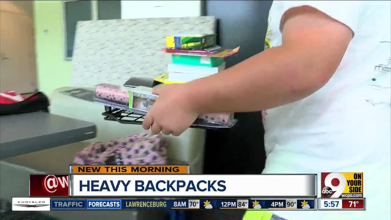 The dangers of your kids' heavy backpacks