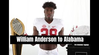 Nick Saban and the Alabama Crimson Tide pick up Four-star William Anderson