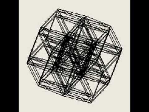 HyperCube 2 to 10 dimensions transformation - YouTube