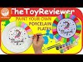 DIY Paint Your Own Porcelain Plates Kit MindWare How To Craft Unboxing Toy Review by TheToyReviewer
