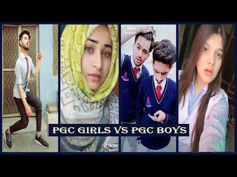 Punjab College Boys Vs Girls Musically Tik Tok Part 2 | PGC inside