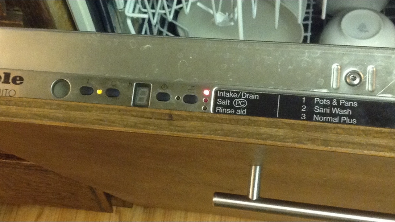 🌎 Miele Dishwasher Intake/Drain Light On -- Won't Start -- DIY -Easy Fix