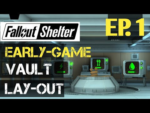 Let's Play Fallout Shelter - Early Game Vault Layout: A Journey To A Utopian Vault Ep. 1