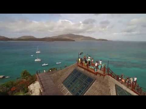 Nick Jacobsen Kiteboards Off Richard Branson's Island