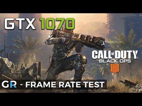 GTX 1070 BLACK OPS 4 BLACKOUT | Frame Rate Benchmark Test