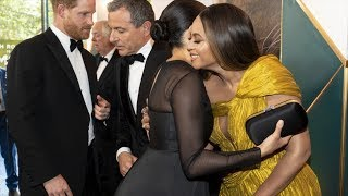 Royalty meets pop royalty - when Meghan met Beyoncè at the Lion King premiere