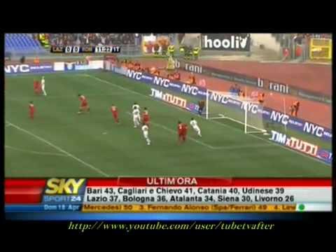 Lazio-Roma 1-2 HQ AMPIA SINTESI RISSA FINALE POLLICE VERSO TOTTI sky sport 18_04_10