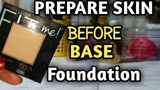 Prepare your skin before applying base,base lagany ka theak tareeqa in Urdu , hindi