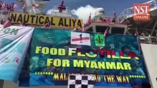 PM Najib flags off Myanmar bound 'food flotilla' for Rohingya
