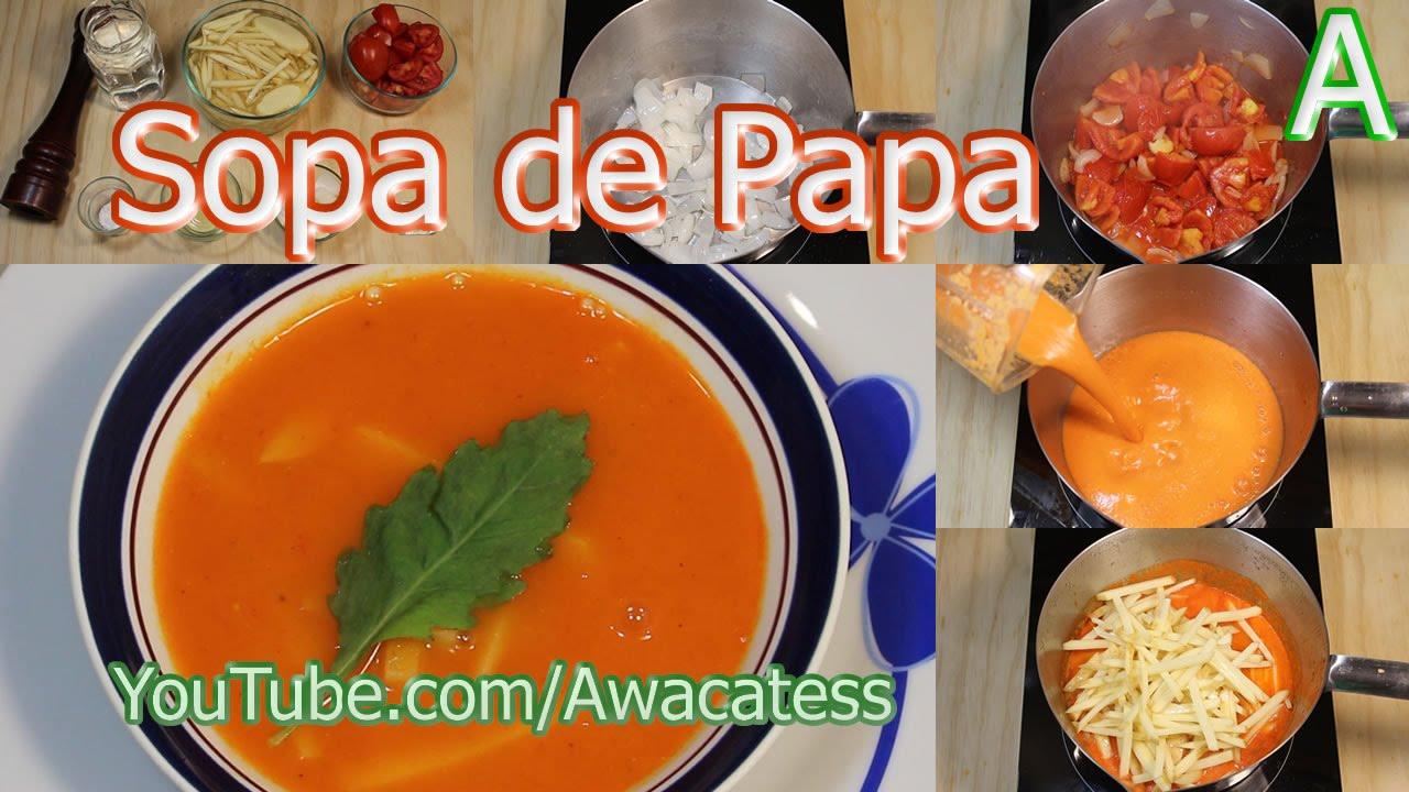Como hacer sopa de papa recetas de cocina mexicana for Rectas de cocina faciles