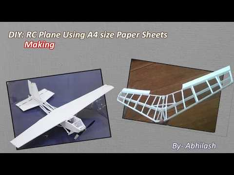 Making of RC Plane Using A4 Paper sheets