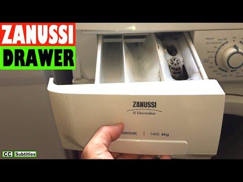 How to remove Dispenser Drawer on Zanussi Washing Machine