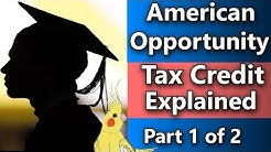 American Opportunity Tax Credit 2018 (Tax tips for college students) College and taxes part 1 of 2 p