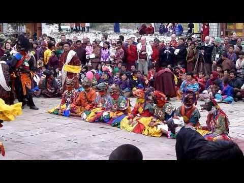 Bhutanese festival - Jambay Lhakhang near Jakar