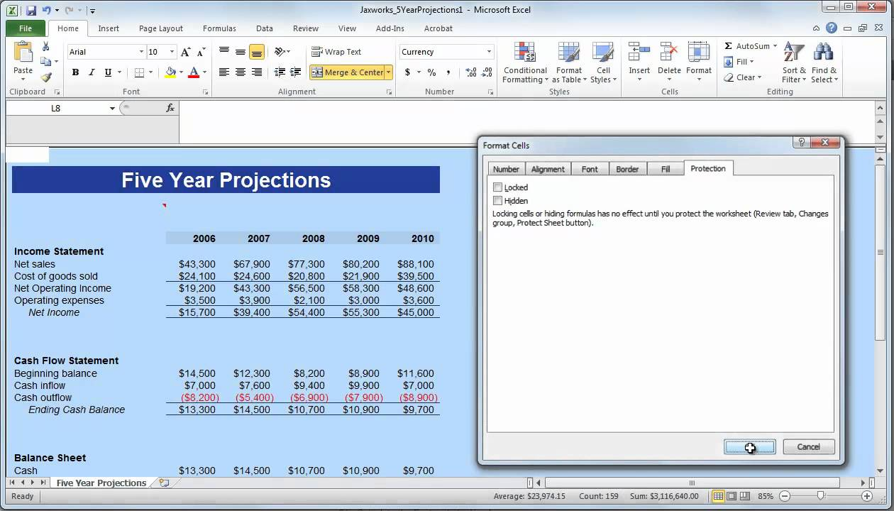 Timesheet template excel 2010 images templates example free download how to protect specific cells in an excel 2010 worksheet youtube alramifo images alramifo Image collections