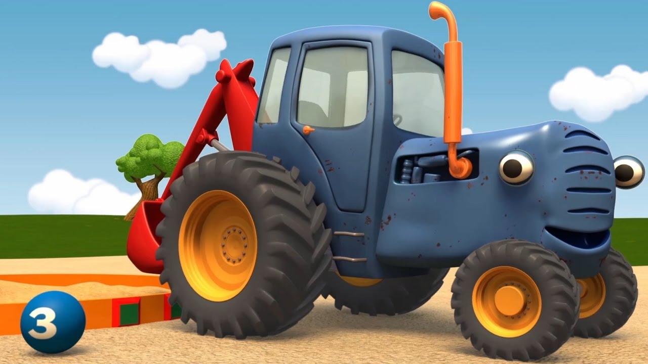 Мультики - Синий Трактор Гоша - Грузовик и Трактор играют ...