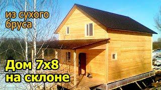 видео Д-82 Дом из бруса 7x8,5 м