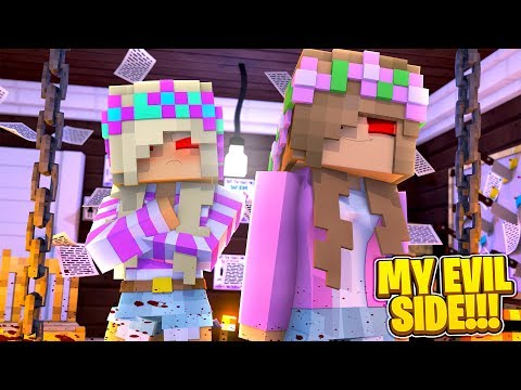 Minecraft MY EVIL SIDE - EVIL LITTLE KELLY IS BACK & SHE TURNS LEAH EVIL!!!