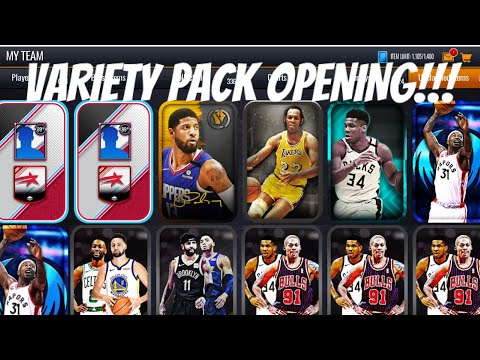 97 OVR PULLS!!! VARIETY PACK OPENING IN NBA LIVE MOBILE 20!!!