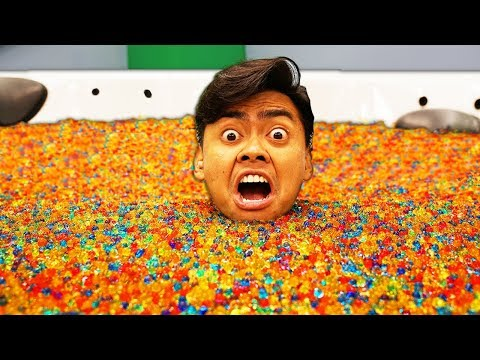I Put 10 Million Orbeez In A Hot Tub!