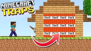 MORE Easy Hidden & Effective Minecraft TRAPS!