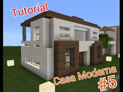 Minecraft como hacer una casa moderna 5 youtube for Casa moderna minecraft pe 0 10 5