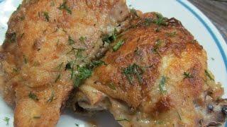 Куриные бедрышки в кляре и в духовкеChicken thigh in batter in the oven
