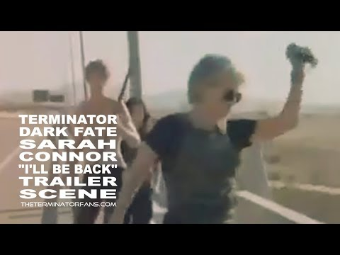 "terminator:-dark-fate---sarah-connor-""i'll-be-back""-trailer-scene"