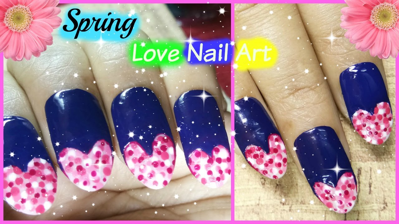 Spring Nail Art Designs Trending - Dotted love Nail Art Season - YouTube