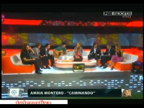 Caminando(acustico) en Fútbol para todos-Amaia Montero