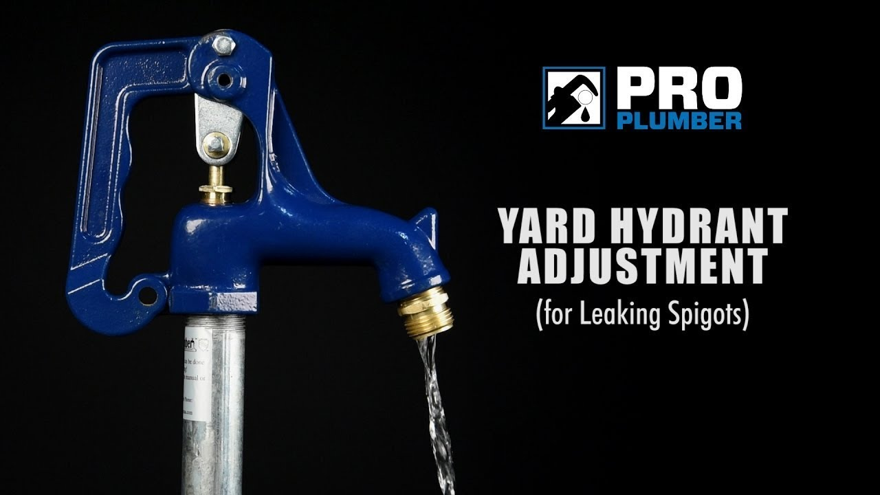 How to Adjust Leaking Pro Plumber Frost Proof Yard Hydrant - YouTube