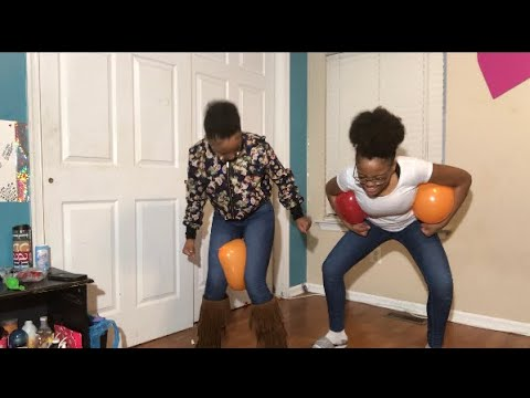 balloon challenge ( must watch so funny ) 😂