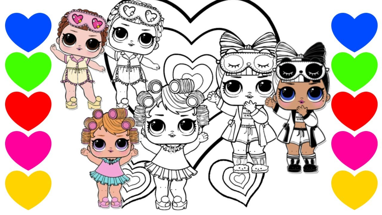 Pintar Desenho Da Lol Surprise Pintar Bonecas Lol Surpresa Colorir Lol Coloring Lol Sleepover Club