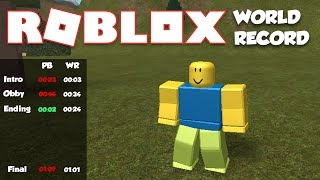 ROBLOX FULL SPEEDRUN (WORLD RECORD - 00:03.21)