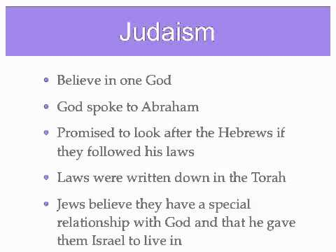 Five facts about Judaism - YouTube