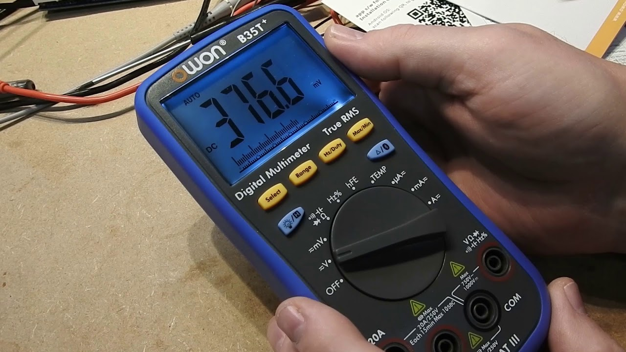 Owon B35t Digital Multimeter With Bluetooth Youtube How To Use A Dmm Using Radioelectronicscom